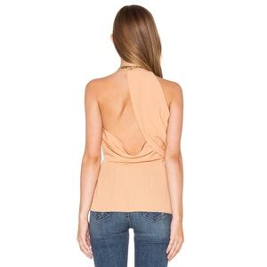 Keepsake The Label Rescue Me Top in Caramel NWT